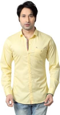 REDOX Men's Solid Casual Yellow Shirt