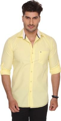Ramarrow Men's Solid Casual Yellow Shirt
