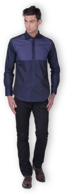 THE IMPERIAL INDIA COMPANY Men,s Solid Formal Blue Shirt