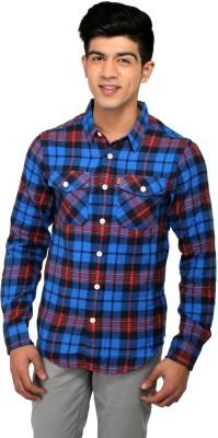CAT Men's Checkered Casual Multicolor Shirt
