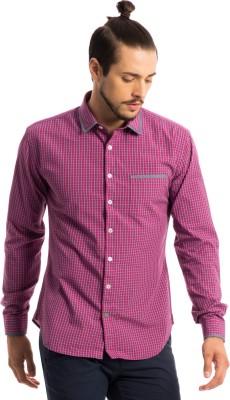 Specimen Men's Checkered Casual Purple Shirt