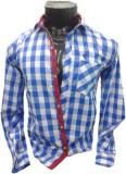 Spykey Men's Self Design Formal Blue Shi...