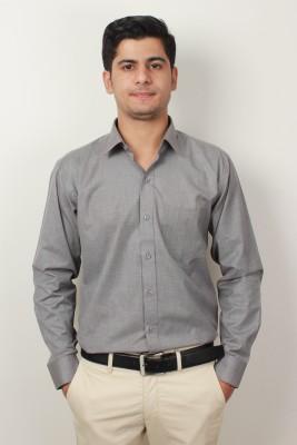 Frissk Men's Solid Formal Black Shirt