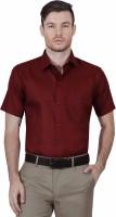 Mchenry Formal Shirts (Men's) - McHenry Men's Solid Formal Maroon Shirt