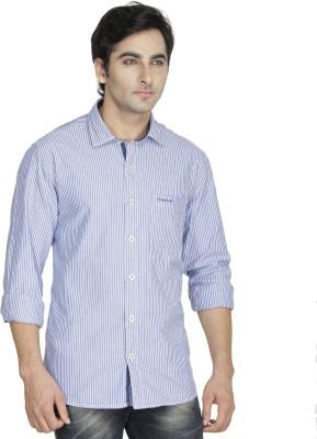 Kingswood Men's Striped Casual Blue, White Shirt