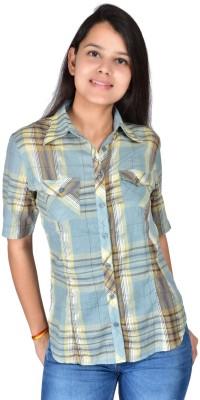 Palette Women's Checkered Casual Grey Shirt