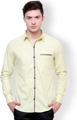 Blackbuk India Men's Printed Casual Yellow, Blue Shirt