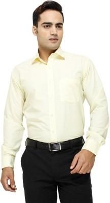 Aries Men's Solid Formal Yellow Shirt