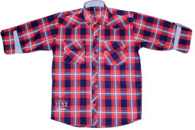 BAD BOY Boy's Checkered Casual Multicolor Shirt