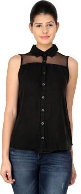 StyleToss Women's Solid Casual Black Shirt