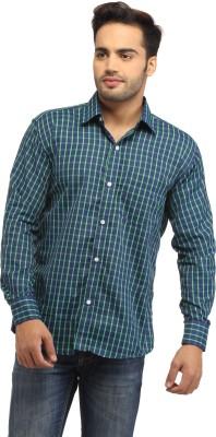 Pede Milan Men's Checkered Casual Green, Blue Shirt