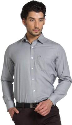 Klub Fox Men's Solid Formal Grey Shirt