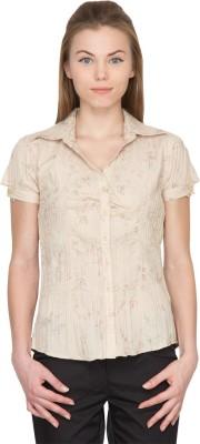 Species Women,s Printed Formal Beige Shirt