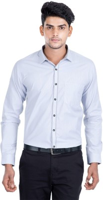 Independence Men's Checkered Formal Grey Shirt