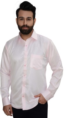 Big Brother Men's Solid Casual, Party, Wedding, Festive Pink Shirt