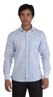 Bearberry Formal Shirts (Men's) - BearBerry Men's Striped Formal Light Blue, White Shirt