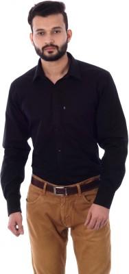 Cotton Treat Men's Solid Casual Black Shirt