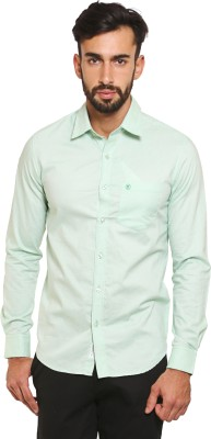 Classic Polo Men's Solid Formal Light Green Shirt