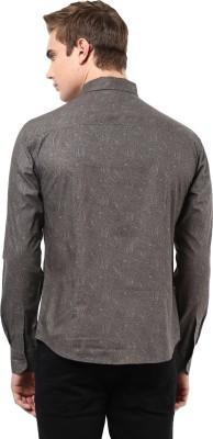Yellow Submarine Men's Printed Casual Grey Shirt
