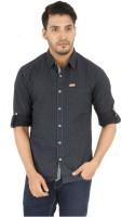 Spykar Men's Wear - Spykar Men's Printed Casual Black Shirt