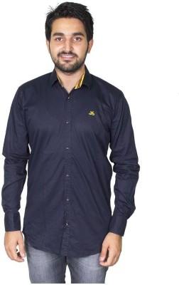 Mangue Men's Solid Casual Blue Shirt