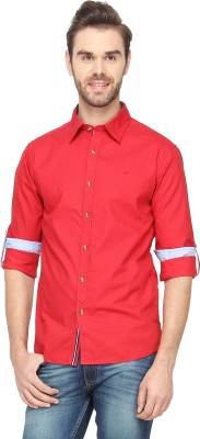 T-Base Men's Solid Casual Red Shirt