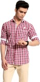 Cotton Crus Men's Checkered Casual Red, ...