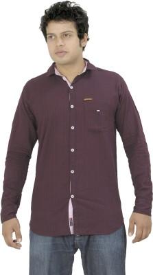 La Milano Men's Solid Casual Brown Shirt