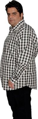 Xmex Men's Striped Formal Reversible White Shirt