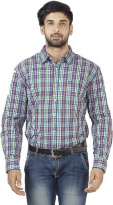 Petroficio Men's Checkered Casual Multicolor Shirt