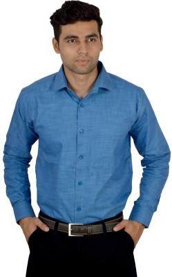 Studio Nexx Men's Solid Formal Blue Shirt