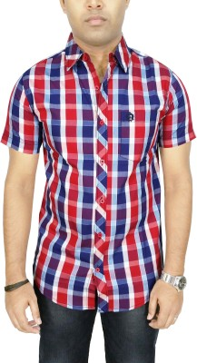 Southbay Men's Checkered Casual, Party, Lounge Wear Red Shirt