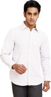 Zenrio Formal Shirts (Men's) - Zenrio Men's Checkered Formal Red Shirt