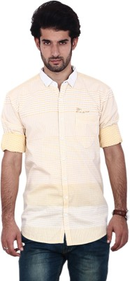 FRD13 Men's Solid Casual Brown Shirt