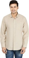 Le Luxe Formal Shirts (Men's) - Le Luxe Men's Self Design Formal Yellow Shirt