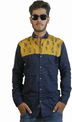 Live Green Men's Printed Casual Multicolor Shirt