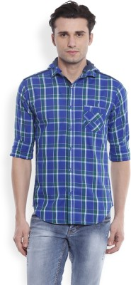 Skie Studio Men's Printed Casual Green Shirt