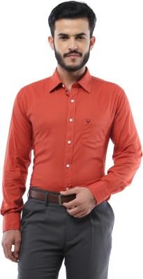 Allen Solly Men,s Solid Formal Orange Shirt