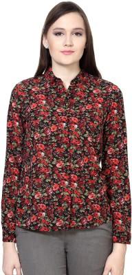 Van Heusen Womens Floral Print Casual Multicolor Shirt