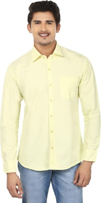 Modish vogue Men,s Solid Casual Yellow Shirt