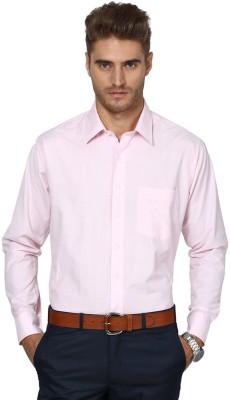 Shaftesbury London Men's Solid Casual Pink Shirt