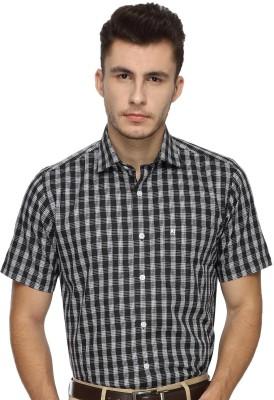 Balista Men,s Checkered Formal Black Shirt