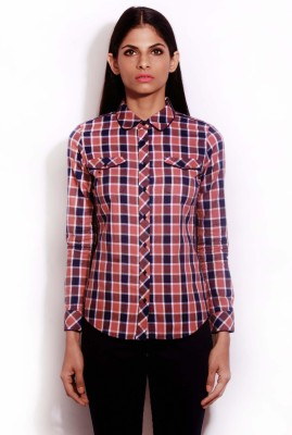 Change 360 Women's Checkered Formal Multicolor Shirt
