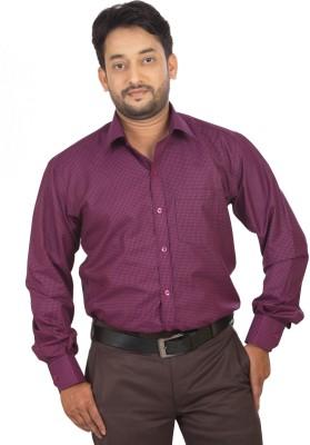 Modo Vivendi Men's Checkered Casual Purple Shirt