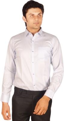Kriss Men's Striped Casual Blue Shirt
