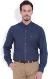 I-Voc Men's Self Design Casual Blue Shir...