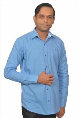 Adam In Style Men's Solid Casual Blue Shirt