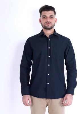 RJ MODA Men's Solid Formal Dark Green Shirt