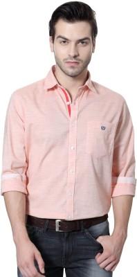 Van Heusen Men's Solid Casual Orange Shirt