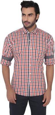 Greenfibre Men's Checkered Casual Red, Grey Shirt